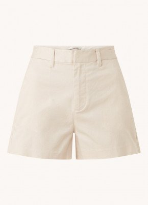 Scotch en Soda Scotch & Soda High waist straight fit korte broek met steekzakken