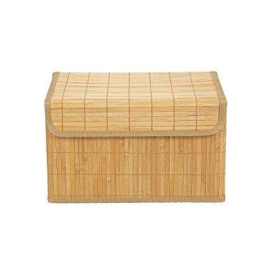 Xenos Opbergmand bamboe latjes - 30x41x24 cm