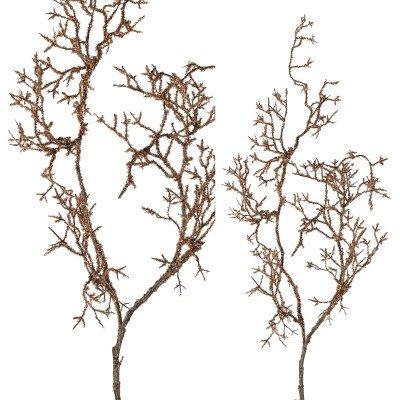 Firawonen.nl Twig plant gold glitter twig bush