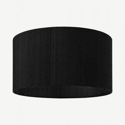 MADE.COM Idris lampenkap van zijde, 30 x 16cm, zwart