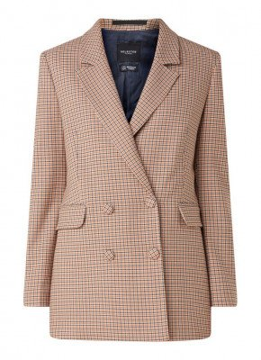 Selected Femme Selected Femme Gabri Lea double-breasted blazer met ruitdessin