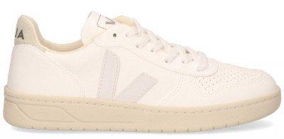 VEJA VEJA V-10 CWL Wit/Wit/Naturel Damessneakers
