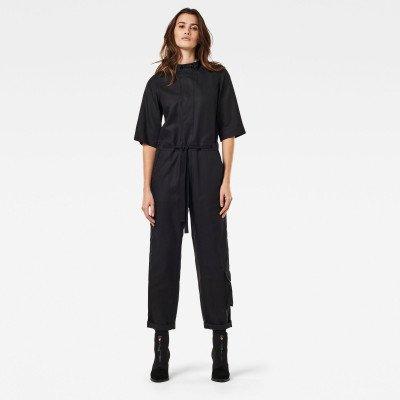 G-Star RAW Shortsleeve Workwear Jumpsuit - Zwart - Dames