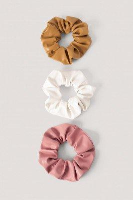 NA-KD Accessories NA-KD Accessories Scrunchies Van Pu - Pink,White,Beige