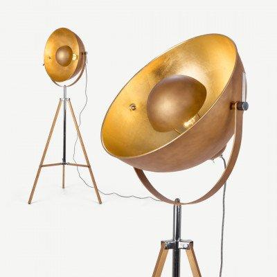 MADE.COM Chicago staande lamp, antiekkoper en goud