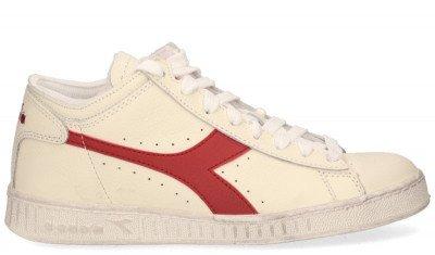 Diadora Sport Diadora Sport Game L Waxed Row Cut Off-White/Rood Damessneakers