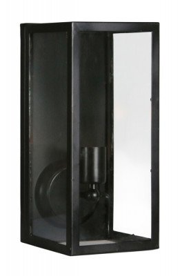 Light en Living Light & Living Wandlamp 'Cordelia' lantaarn 16x18x36,5 cm, zwart