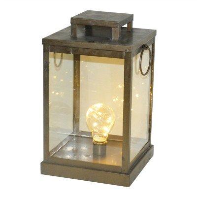 Firawonen.nl PTMD sabina goud ijzeren led lantaaer vierkant s