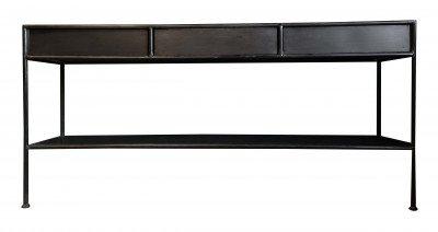 PTMD PTMD Sidetable 'Simple' Metaal, met 3 lades, 170,5 x 80cm