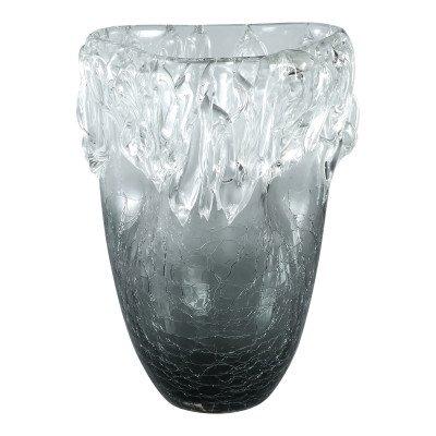 Ptmd yula grijs glazen vaas bombey icicle s