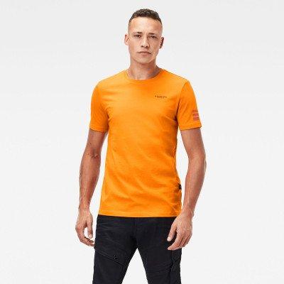 G-Star RAW Text Graphic slim T-Shirt - Oranje - Heren