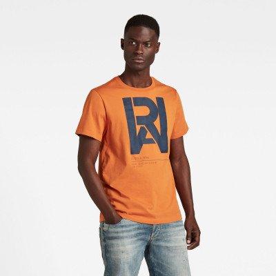 G-Star RAW Graphic RAW T-Shirt - Oranje - Heren