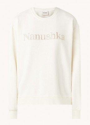 Nanushka Nanushka Remy sweater van biologisch katoen met logoborduring