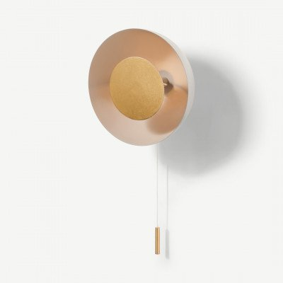 MADE.COM Ward wandlamp, grijs en goudfolie