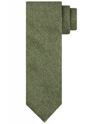 Profuomo Profuomo heren groene katoen-blend stropdas