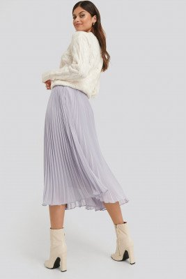 NA-KD Trend NA-KD Trend Ankle Length Pleated Skirt - Purple