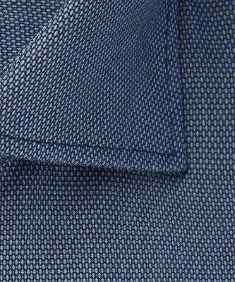 Michaelis Michaelis heren birdseye overhemd blauw strijkvrij