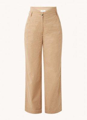 BAenSH ba&sh Boy high waist wide fit pantalon met ceintuur