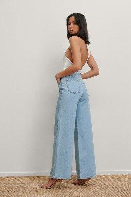 Matiamu By Sofia x NA-KD Matiamu By Sofia x NA-KD Gerecycleerd Jeans Met Wijde Pijpen - Blue