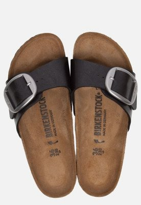 Birkenstock Birkenstock Madrid Big Buckle slippers zwart