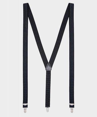Michaelis Michaelis heren gestreepte bretels zwart