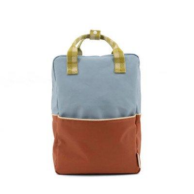 Sticky Lemon Sticky Lemon Large Backpack Colourblocking Blueberry + Willow Brown + Pear Green