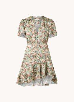 sandro Sandro Fee mini jurk met bloemenprint en volant