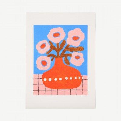 MADE.COM The Poster Club, Flowers in Pearl Vase, print door Madelen Moellard, 50 x 70 cm