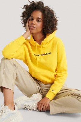 Tommy Jeans Tommy Jeans Hoodie Met Logo - Yellow