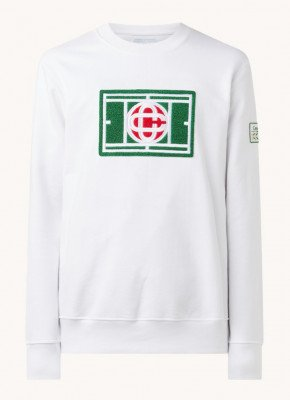 Casablanca Casablanca Chenille sweater met patch
