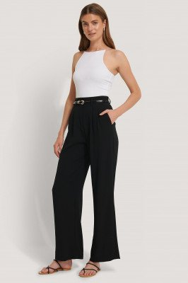 NA-KD Classic Flared Pants - Black