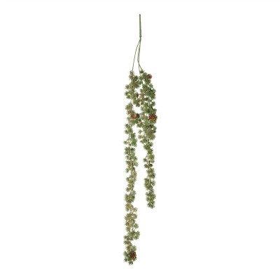 Firawonen.nl PTMD Leaves Plant green glitter hanging pine spray