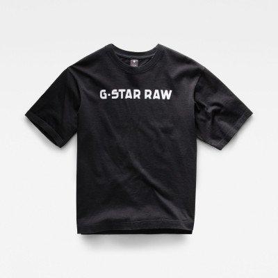 G-Star RAW Unisex Flock Boxy T-Shirt - Zwart - Heren