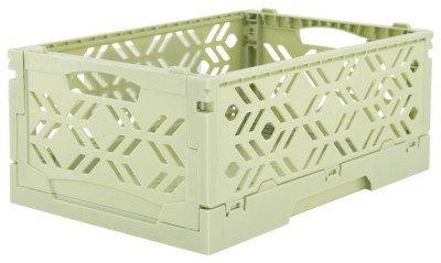 HEMA HEMA Klapkratje Recycled 16x24x10 - Mintgroen