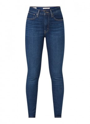 Levi's Levi's Mile high super skinny fit jeans met donkere wassing