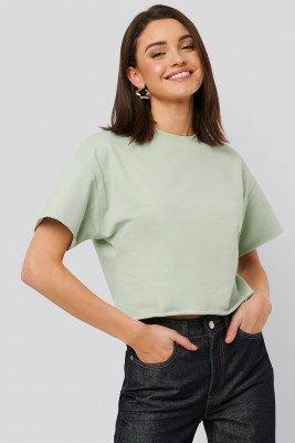NA-KD Basic NA-KD Basic Sweatshirt Tee - Green