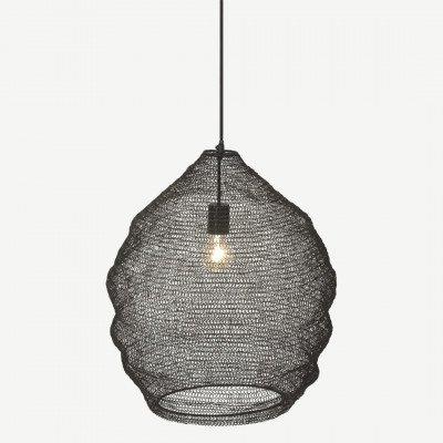 MADE.COM Hestia hanglamp, zwart ijzerdraad