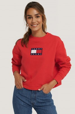 Tommy Jeans Tommy Jeans Tommy Flag Crew - Red