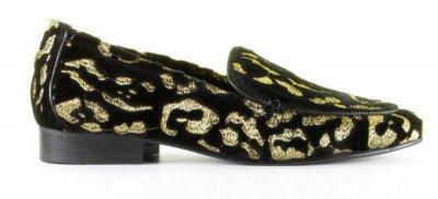 Fabienne Chapot Fabienne Chapot Hayley Leopard Zwart/Goud Damesloafers