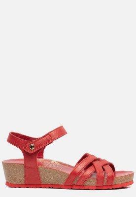 Panama Jack Panama Jack Chia Nacar B2 sandalen met sleehak rood