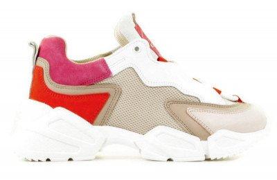 Toral Toral TL-12403 Wit/Beige/Roze Damessneakers