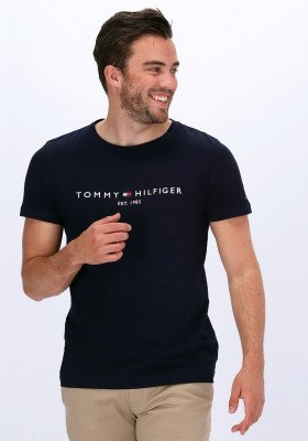 Tommy Hilfiger Blauwe Tommy Hilfiger T-shirt Core Tommy Logo Tee