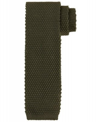 Profuomo Profuomo heren groen knitted stropdas