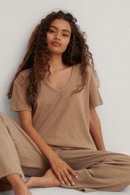 Trendyol Trendyol Pyjamaset Met Losse Pasvorm - Brown