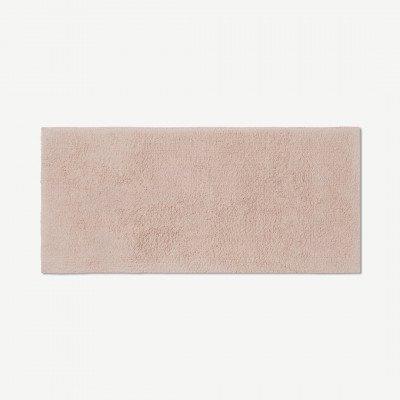 MADE.COM Aire badmat van 100% katoen, extra lang, 50 x 110 cm, roze