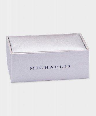 Michaelis Michaelis heren geborsteld reliëfaccent manchetknopen zilver