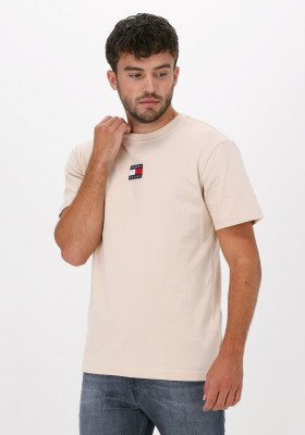 Tommy Jeans Beige Tommy Jeans T-shirt Tjm Tommy Badge Tee