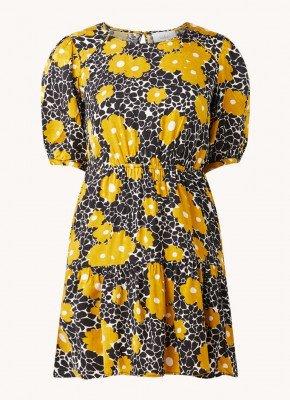 BA&SH ba&sh Bonie mini jurk met pofmouw en bloemenprint