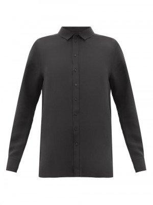 Matchesfashion Wardrobe. nyc - Release 01 Crepe-de-chine Blouse - Womens - Black