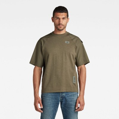 G-Star RAW Back Tape Loose T-Shirt - Groen - Heren